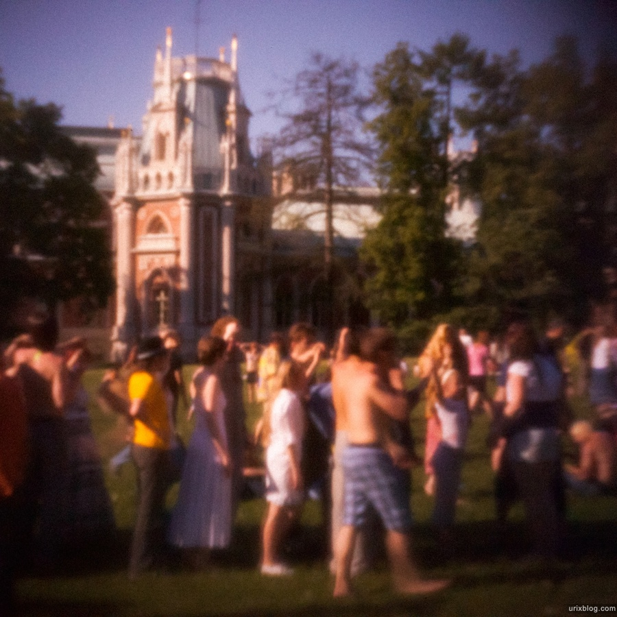 Москва, Царицыно, 2011, Хиппи, Хиппушник, Поляна, 1 июня пинхол Canon 5Dmk2 дырочка pinhole