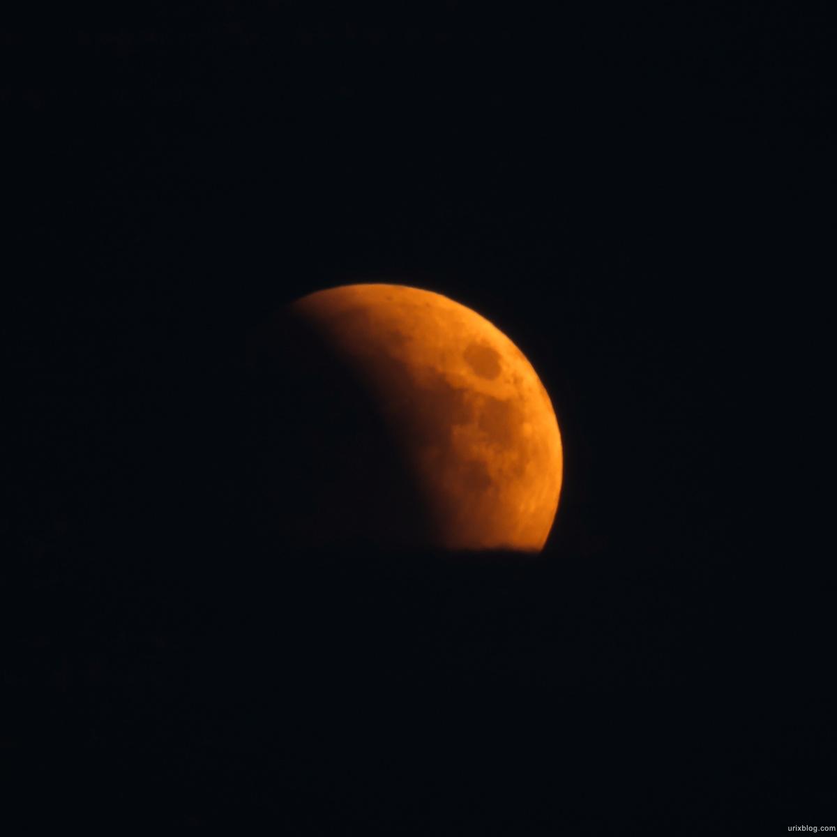 Lunar eclipse 2011.06.15, Лунное затмение, Moscow, Москва, объектив Samyang 800mm Moon