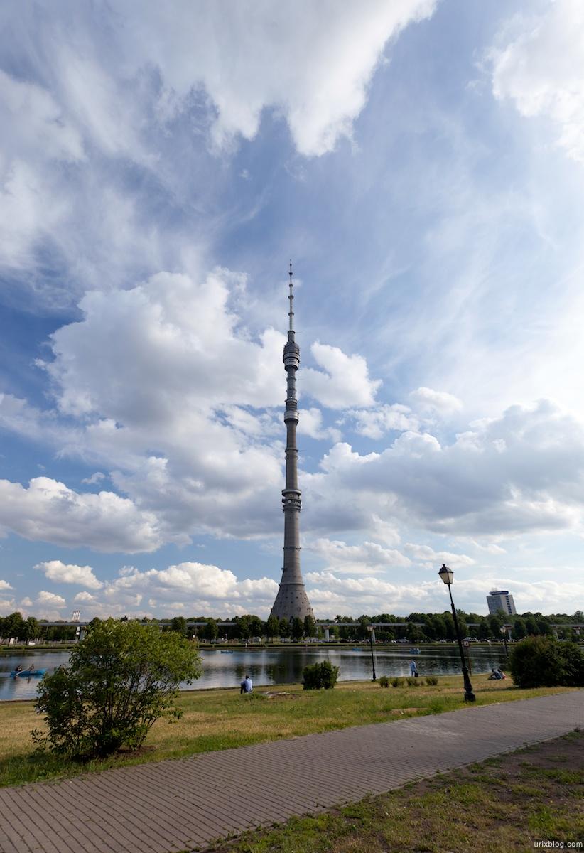 Moscow, Москва, Усадьба Останкино театр телебашня пруд