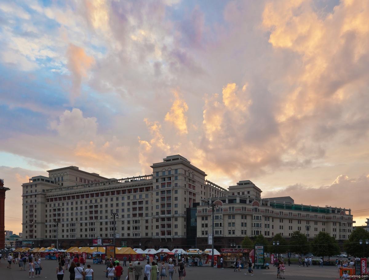 закат, театральная площадь, москва