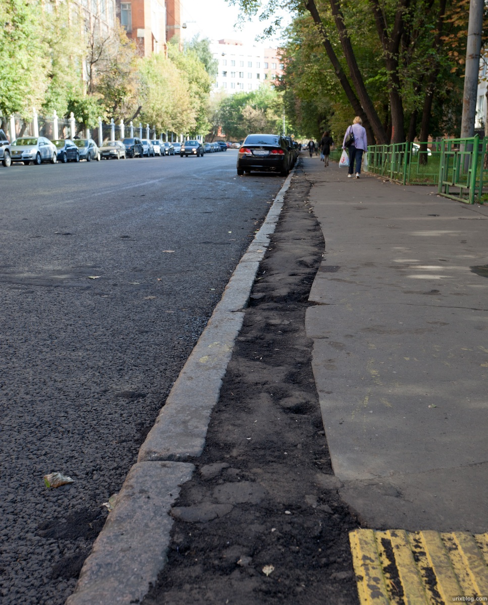 2011 асфальт тротуар Электрозаводская Электрозавода Москва