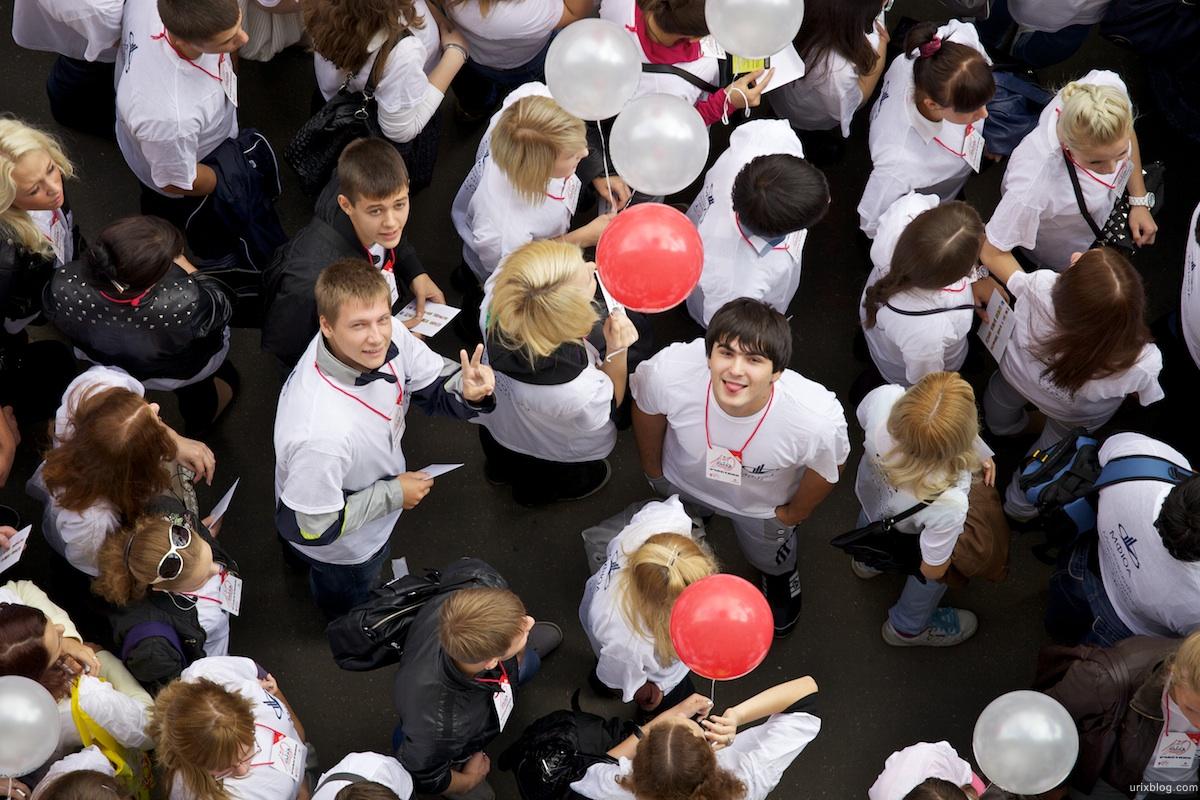 2011 Москва День города Тверская Студенты Демонстрация