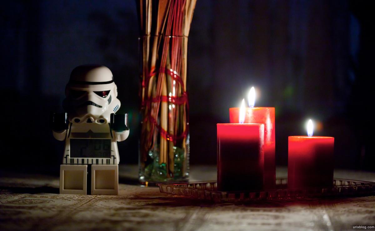 2011 Москва StarWars Stormtrooper Штурмовик свечи будильник