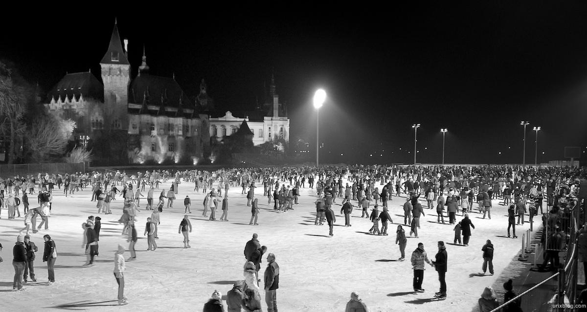 2011 Венгрия Будапешт Budapest Hungary замок Вайдахуняд каток