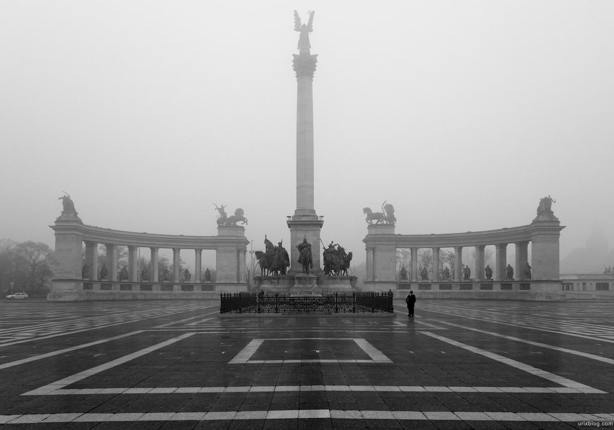 2011 Венгрия Будапешт Budapest Hungary Площадь Героев