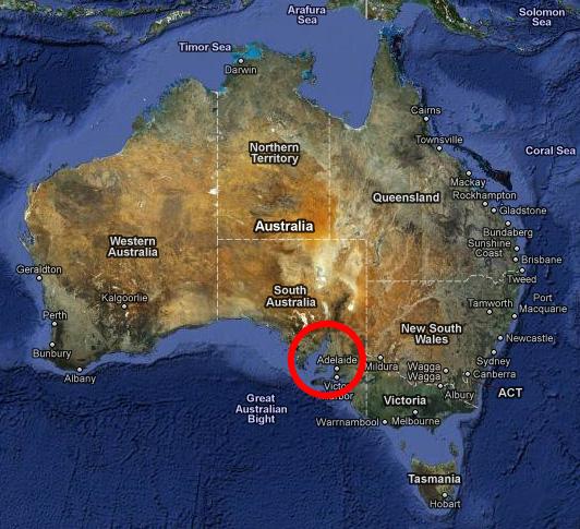 2010 карта map South Australia