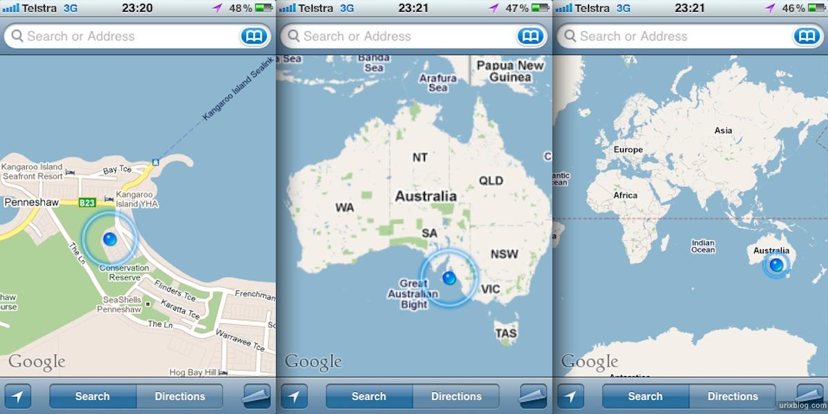 2011 2010 South Australia, Kangaroo Island, Остров Кенгуру, Южная Австралия, Penneshaw, iPhone