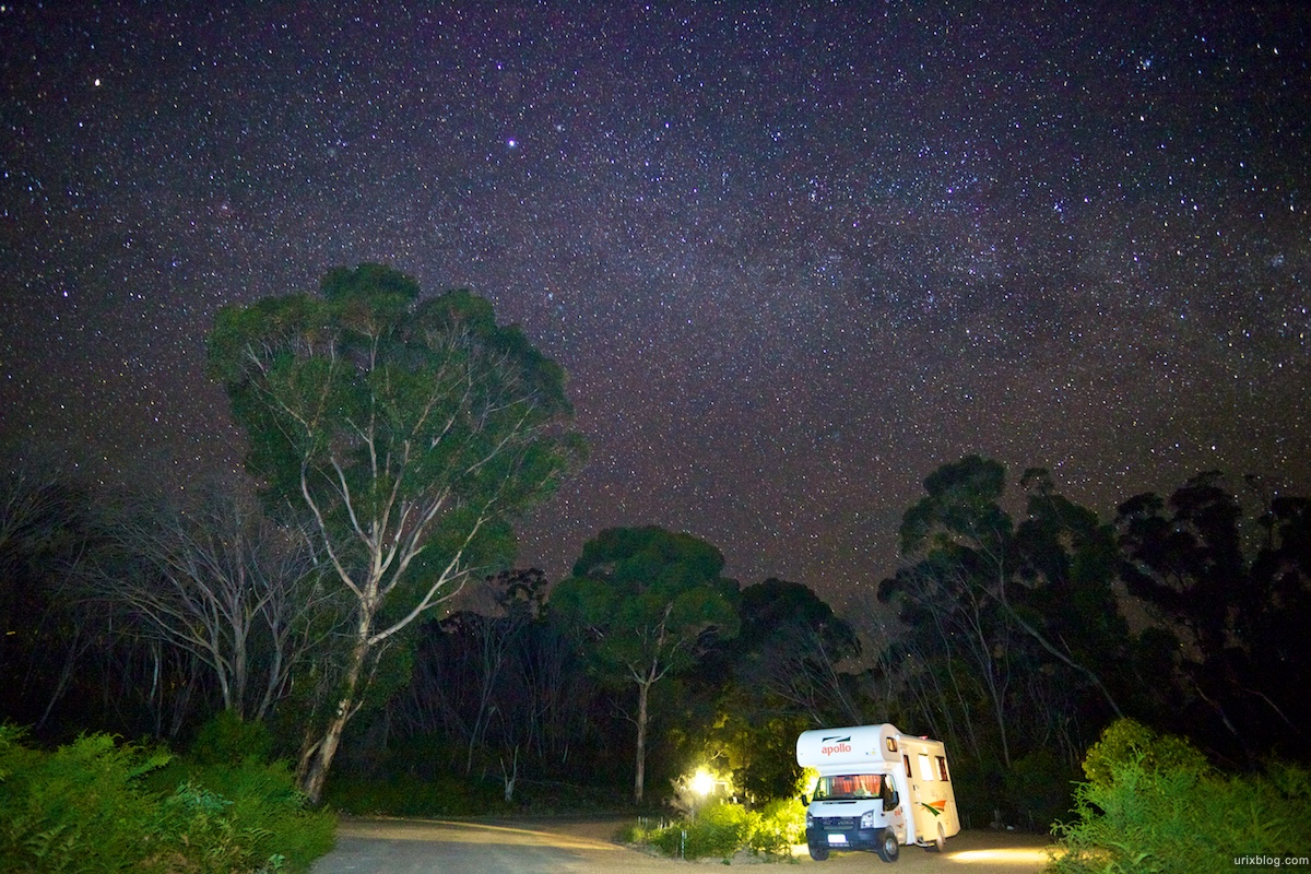 2011 2010 South Australia, Kangaroo Island, Остров Кенгуру, Южная Австралия, Flinders Chase, kamping, кемпинг, stars, south sky, звёзды, южное небо