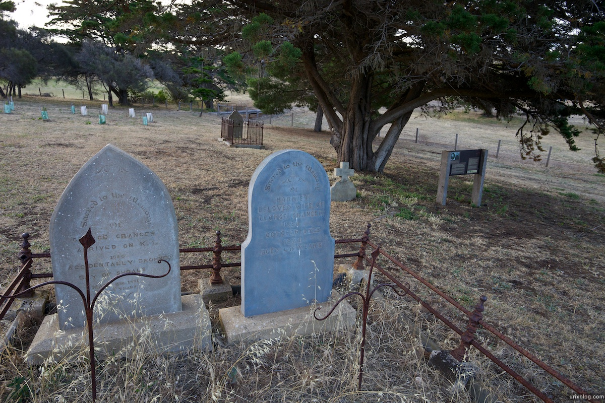 2011 South Australia, Kangaroo Island, Остров Кенгуру, Южная Австралия, Kingscote, cemetery, кладбище