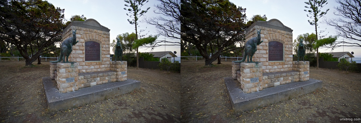 2011 South Australia, Kangaroo Island, Остров Кенгуру, Южная Австралия, Kingscote, 3D, stereo, cross-eyed, стерео