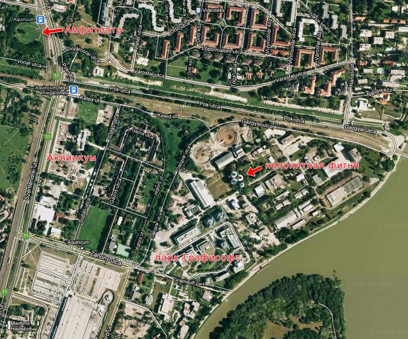 2011 карта Венгрия Будапешт Budapest Hungary