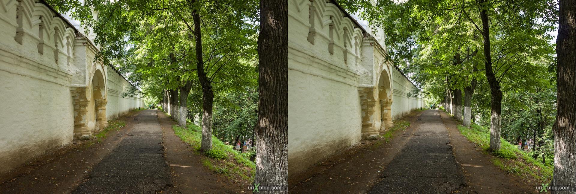 2012 3D stereo stereo pair 3Д стерео церковь храм монастырь владимир, Church Vladimir