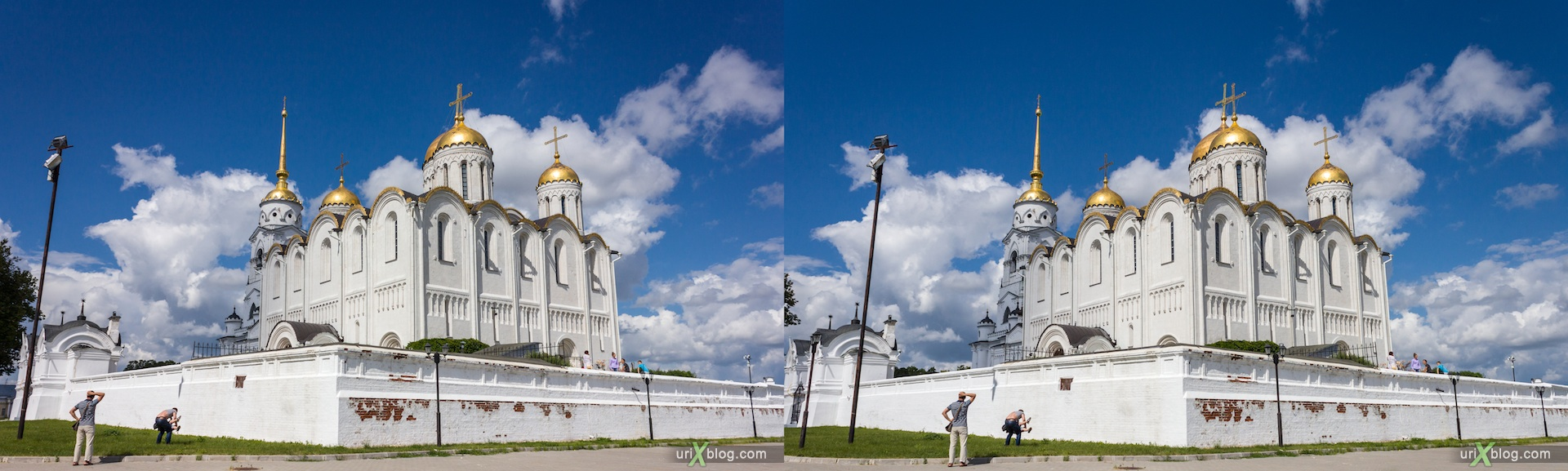 2012 3D stereo stereo pair 3Д стерео церковь храм монастырь владимир Успенский собор, Church Vladimir