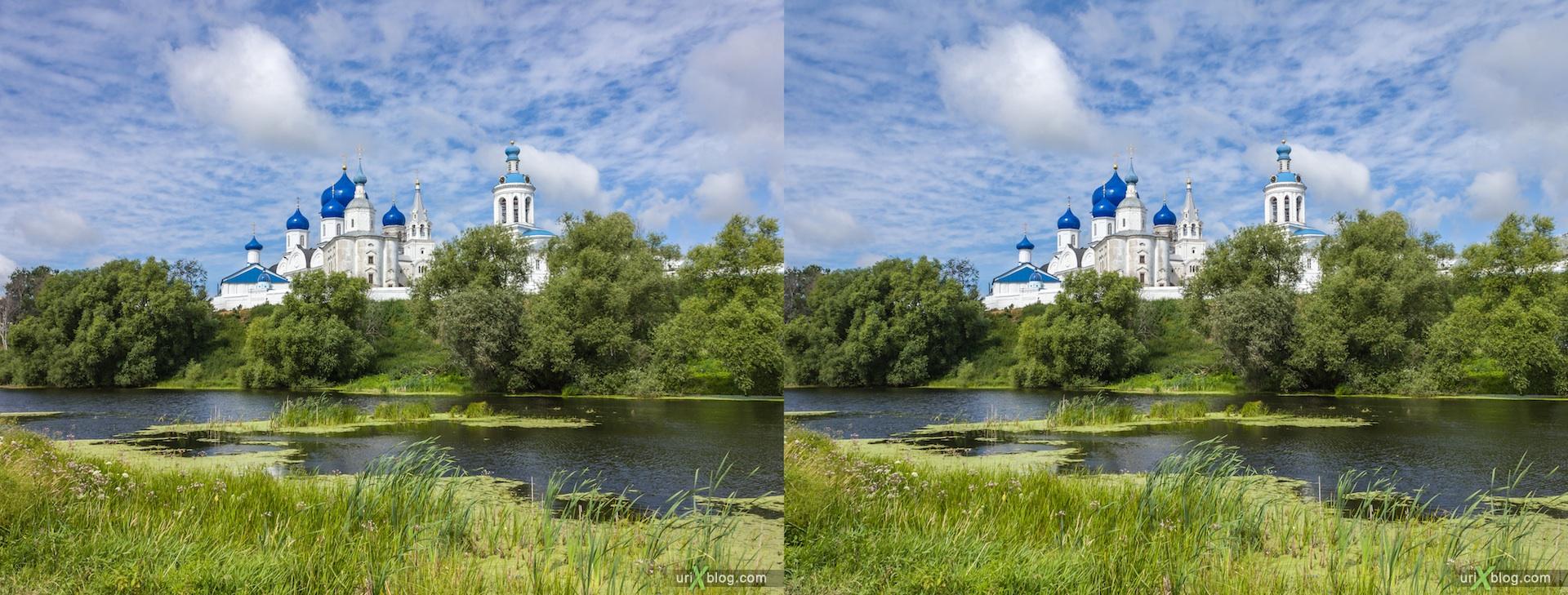2012 3D stereo stereo pair 3Д стерео церковь храм монастырь владимирская область боголюбово, Church Bogolyubovo monastery