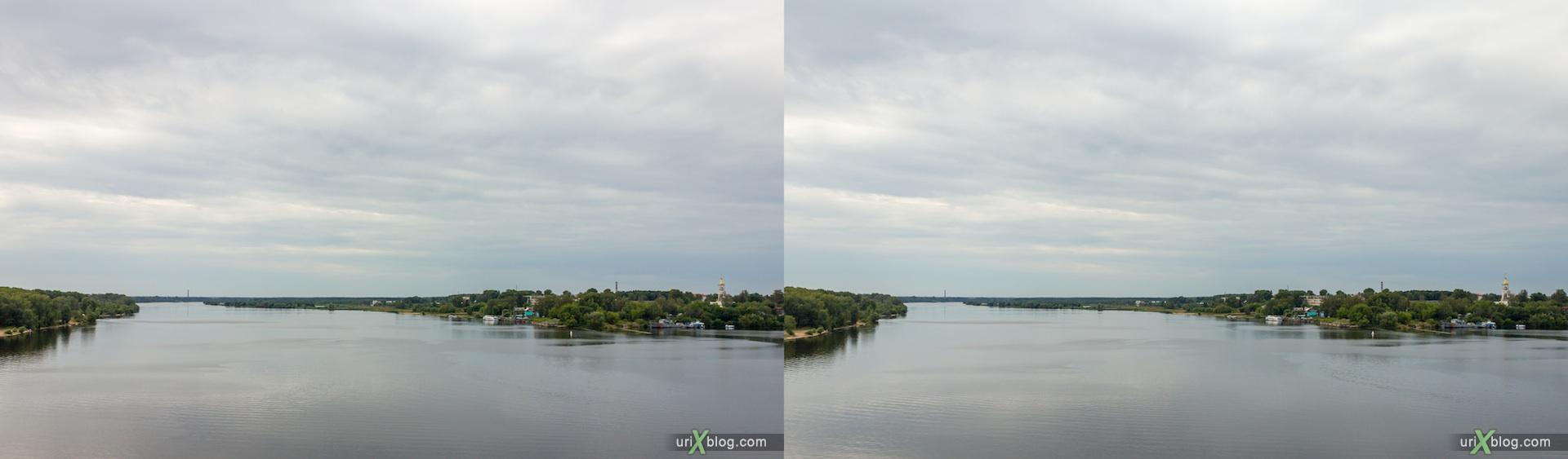 2012 3D stereo stereo pair 3Д стерео Волга река Кимры Савёлово мост