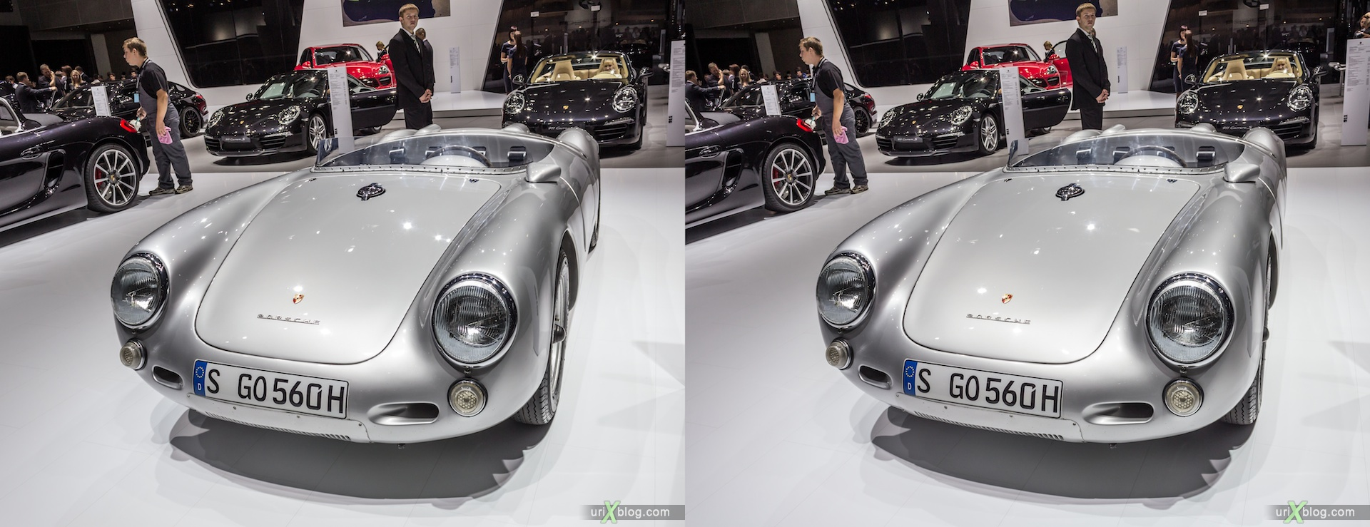 2012, Porsche, Moscow International Automobile Salon, auto show, 3D, stereo pair, cross-eyed, crossview
