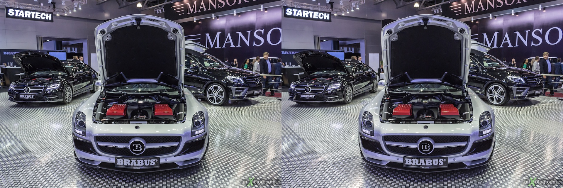 2012, Brabus, Moscow International Automobile Salon, auto show, 3D, stereo pair, cross-eyed, crossview