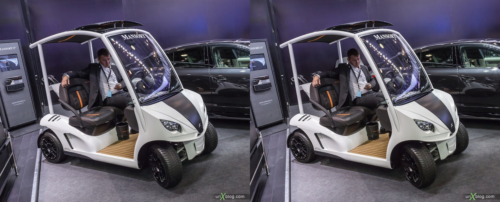 2012, Mansory, Moscow International Automobile Salon, auto show, 3D, stereo pair, cross-eyed, crossview