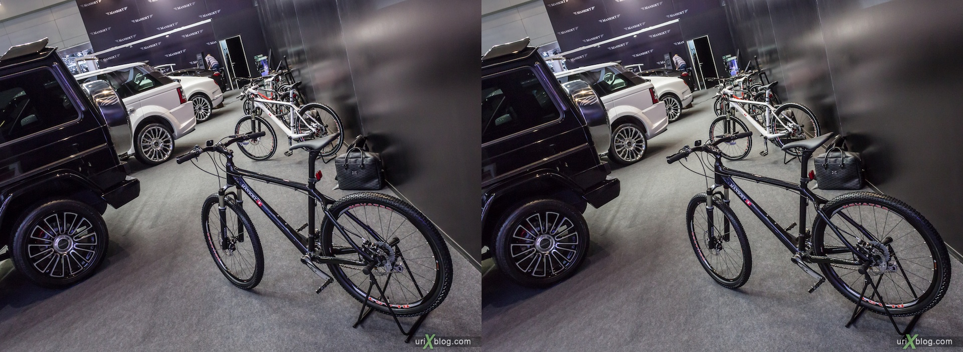 2012, Mansory, bicycle, велосипед, Moscow International Automobile Salon, auto show, 3D, stereo pair, cross-eyed, crossview