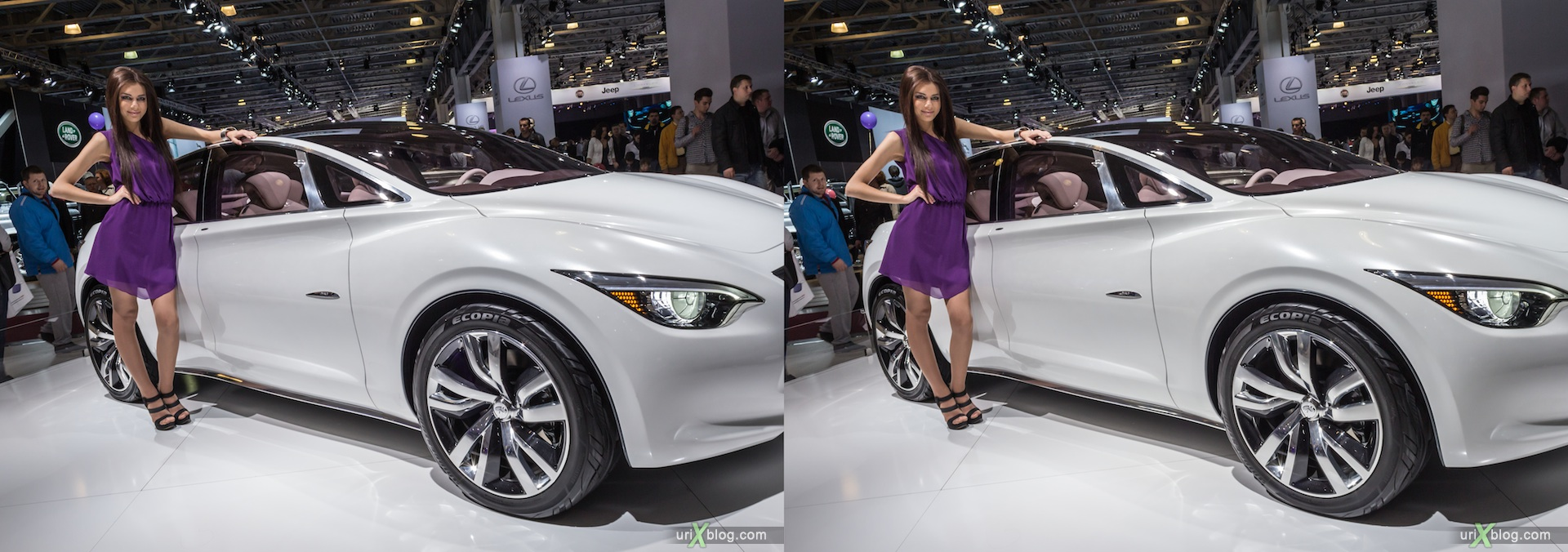 2012, Lexus, девушка, модель, girl, model, Московский международный автомобильный салон, ММАС, Крокус Экспо, 3D, стерео, стереопара