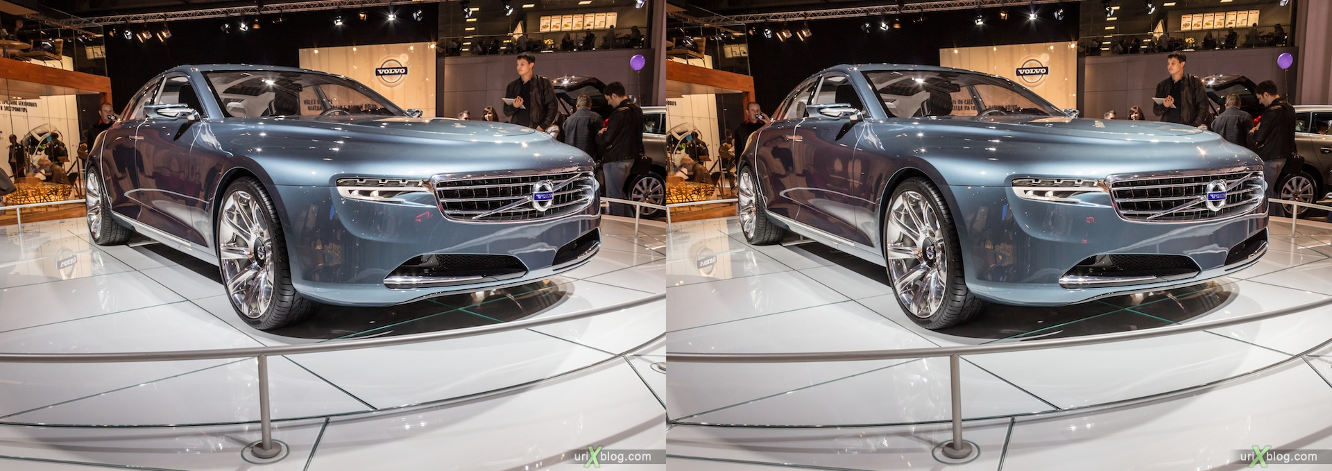 2012, Volvo, Moscow International Automobile Salon, auto show, 3D, stereo pair, cross-eyed, crossview