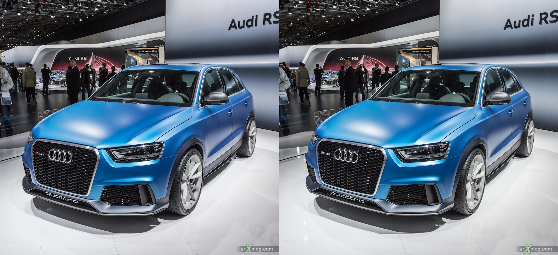 2012, Audi RS Q3 Quattro, Moscow International Automobile Salon, auto show, 3D, stereo pair, cross-eyed, crossview