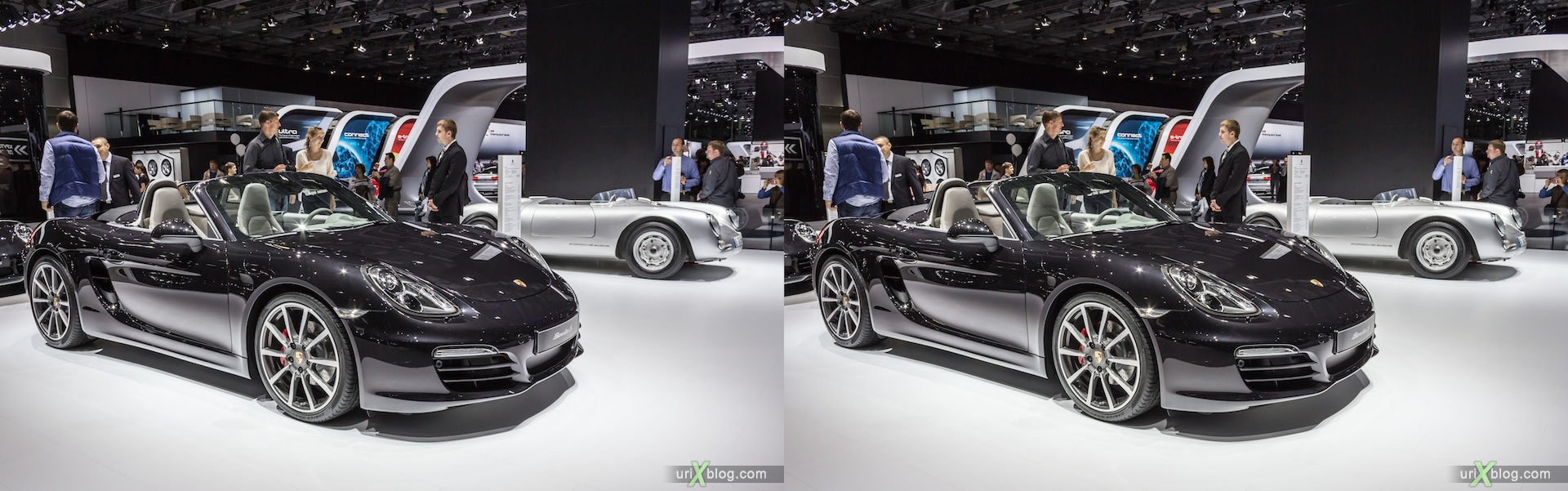 2012, Porsche Boxster S, Moscow International Automobile Salon, auto show, 3D, stereo pair, cross-eyed, crossview