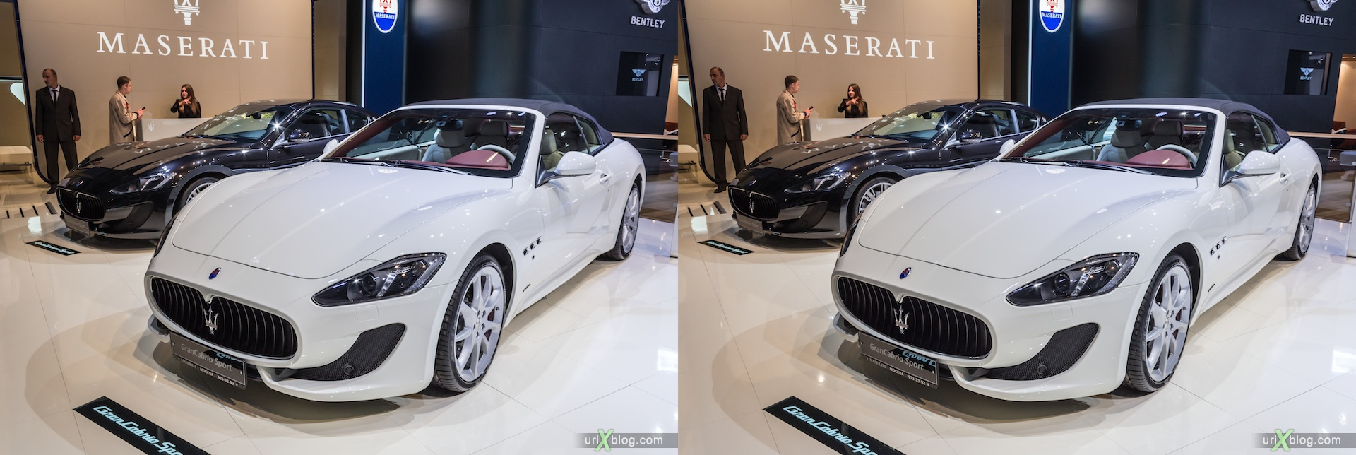 2012, Maserati GranCabrio Sport, Moscow International Automobile Salon, auto show, 3D, stereo pair, cross-eyed, crossview