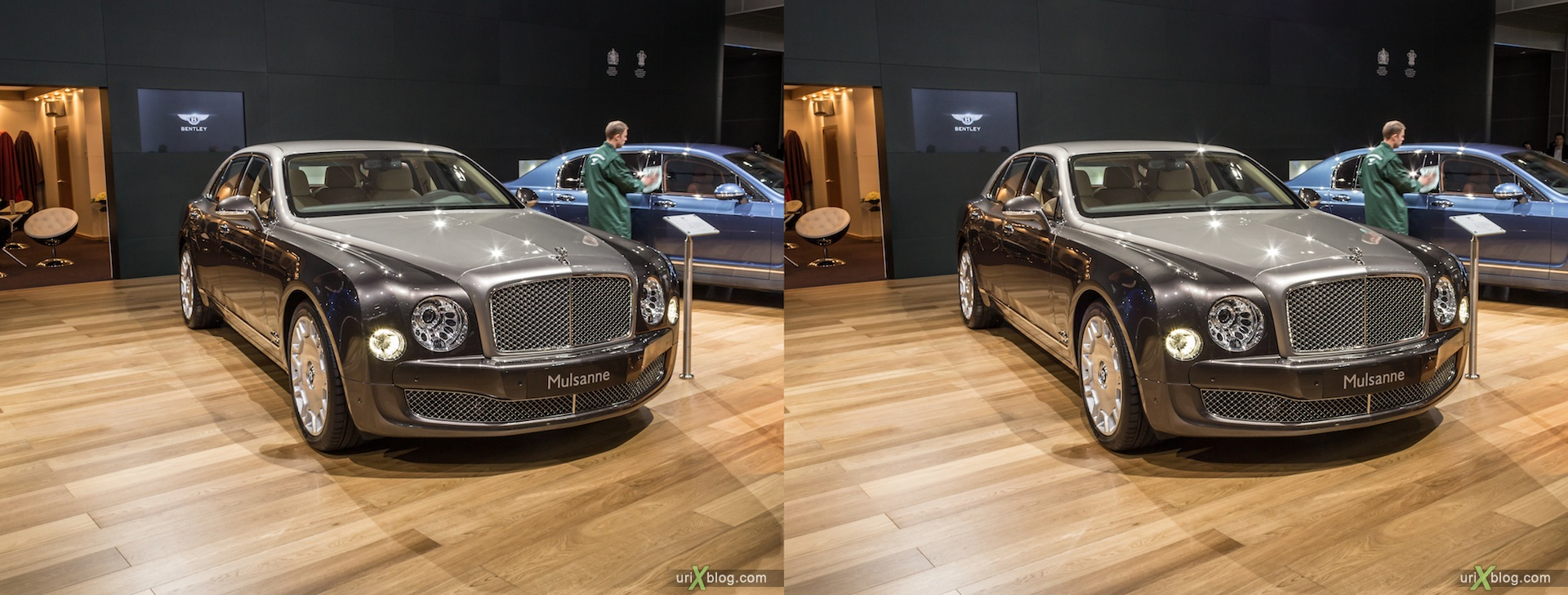2012, Bentley Mulsanne, Moscow International Automobile Salon, auto show, 3D, stereo pair, cross-eyed, crossview