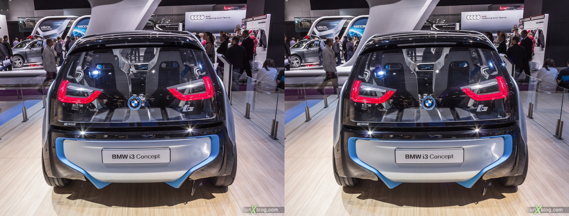 2012, BMW i3 Concept, Moscow International Automobile Salon, auto show, 3D, stereo pair, cross-eyed, crossview