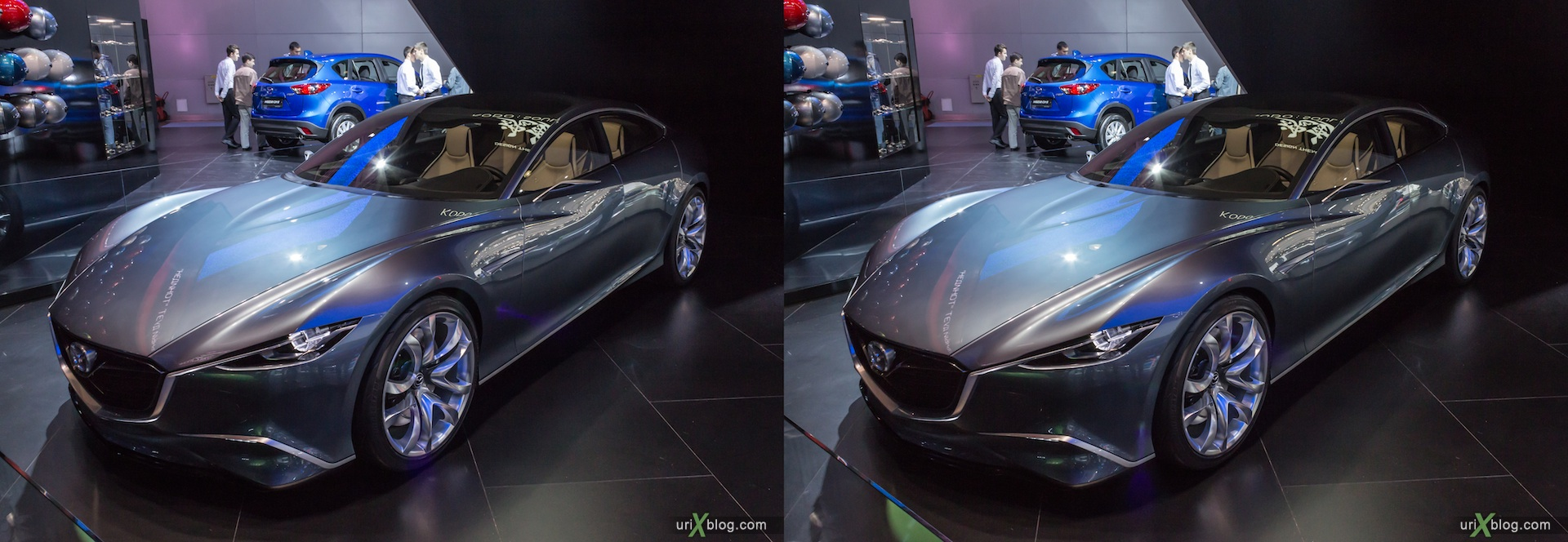 2012, Mazda, Moscow International Automobile Salon, auto show, 3D, stereo pair, cross-eyed, crossview