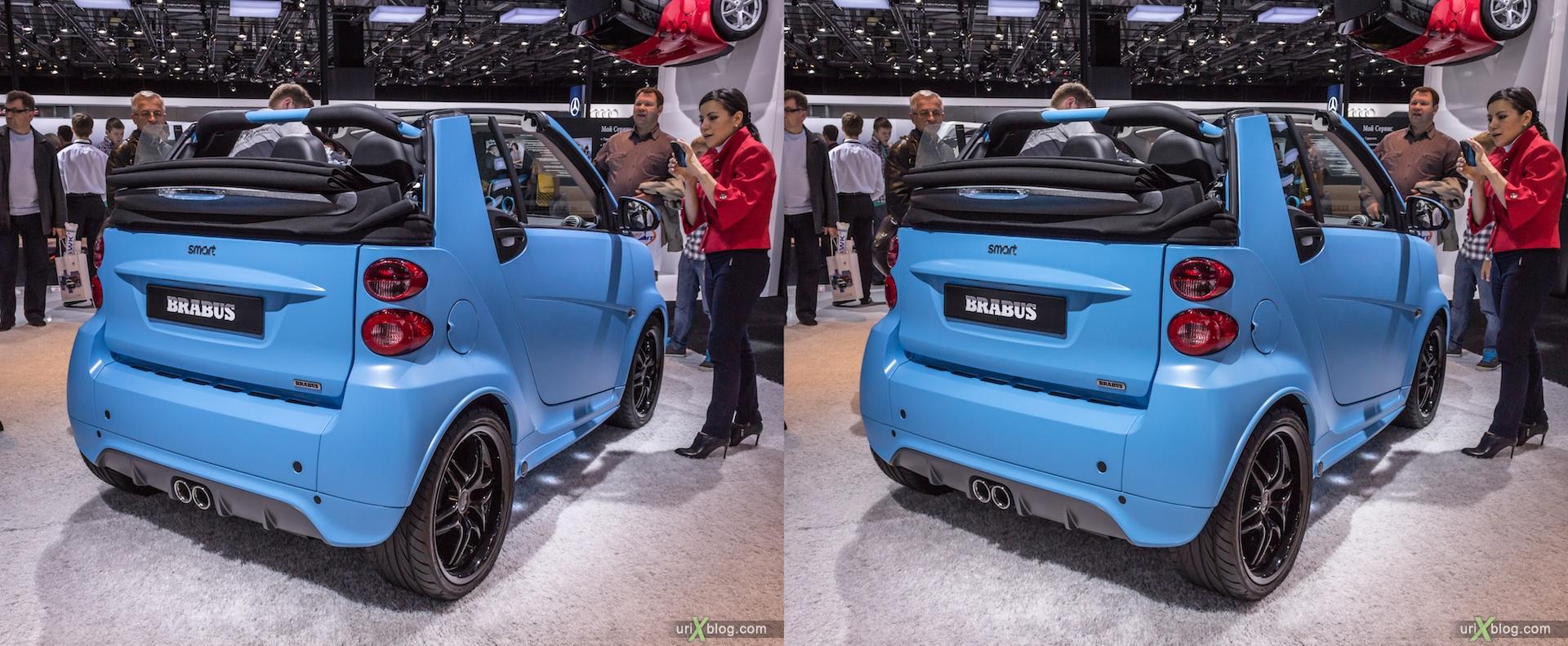 2012, Smart Brabus, Московский международный автомобильный салон, ММАС, Крокус Экспо, 3D, стереопара