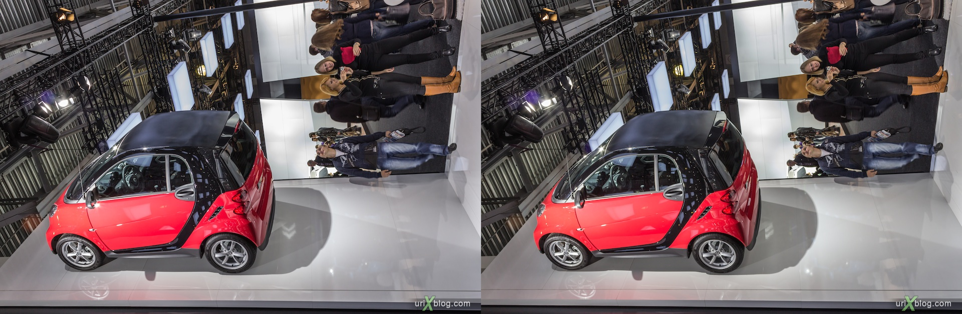 2012, Smart, Moscow International Automobile Salon, auto show, 3D, stereo pair, cross-eyed, crossview