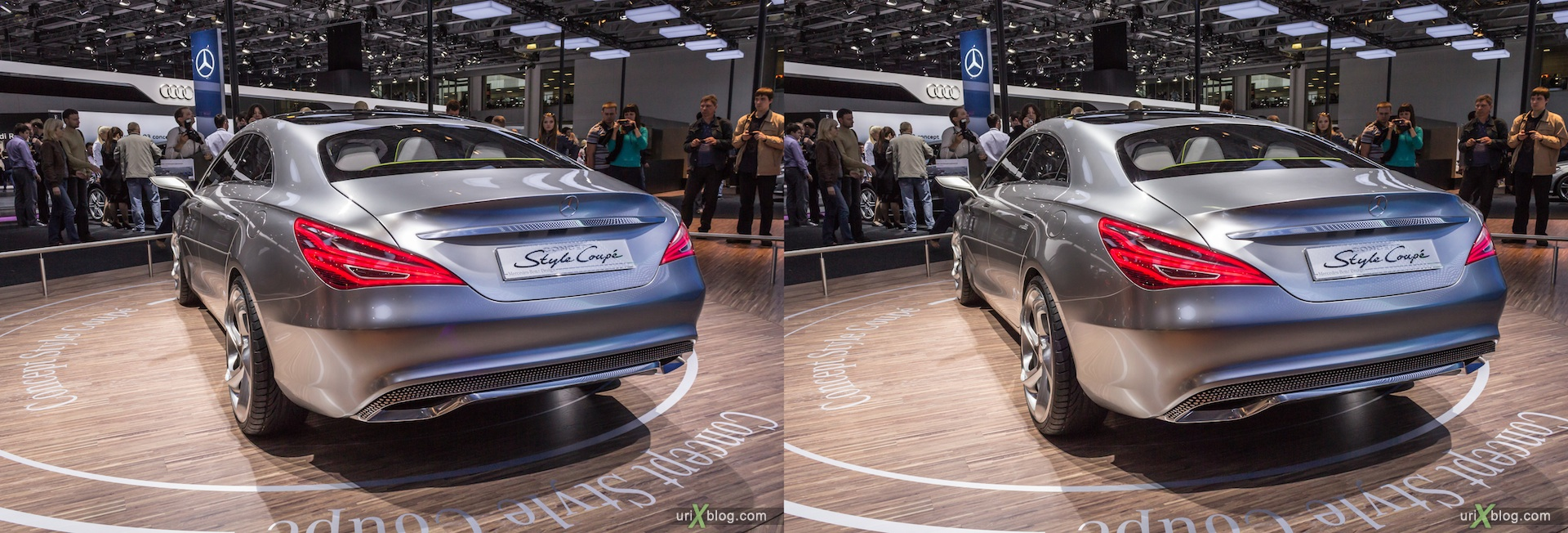 2012, Mercedes Benz Style Coupe, Moscow International Automobile Salon, auto show, 3D, stereo pair, cross-eyed, crossview