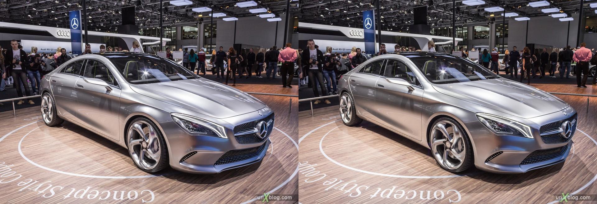 2012, Mercedes Benz Style Coupe, Московский международный автомобильный салон, ММАС, Крокус Экспо, 3D, стереопара
