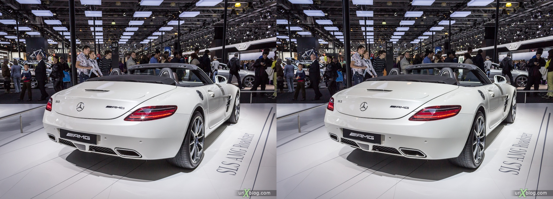2012, Mercedes Benz AMG, Moscow International Automobile Salon, auto show, 3D, stereo pair, cross-eyed, crossview
