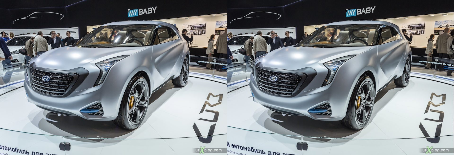 2012, Hyundai, Moscow International Automobile Salon, auto show, 3D, stereo pair, cross-eyed, crossview