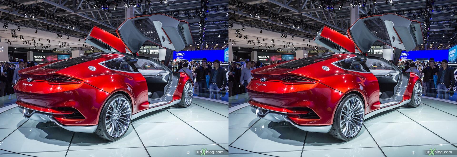 2012, Ford Evos, Московский международный автомобильный салон, ММАС, Крокус Экспо, 3D, стереопара