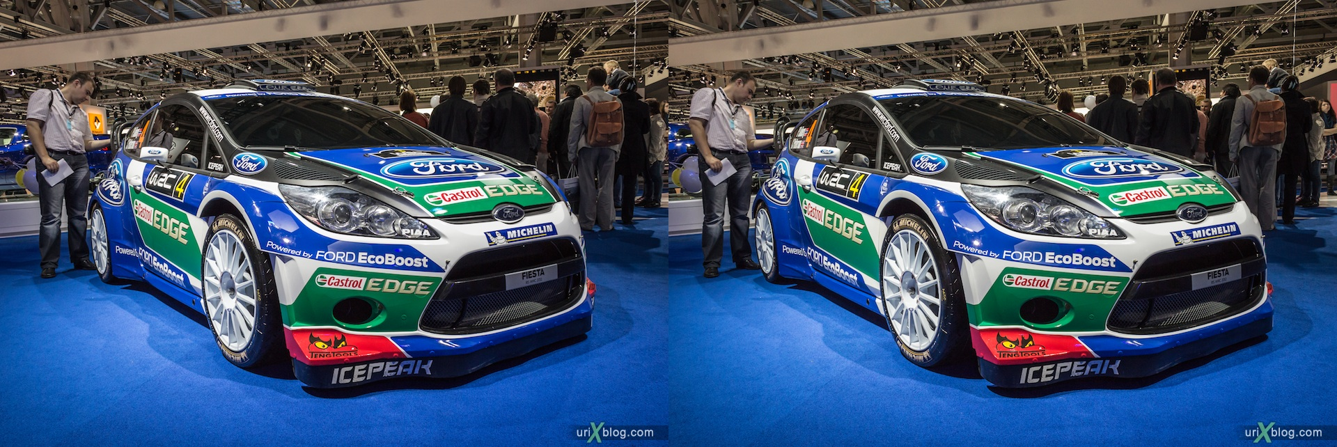 2012, Ford Fiesta, Moscow International Automobile Salon, auto show, 3D, stereo pair, cross-eyed, crossview