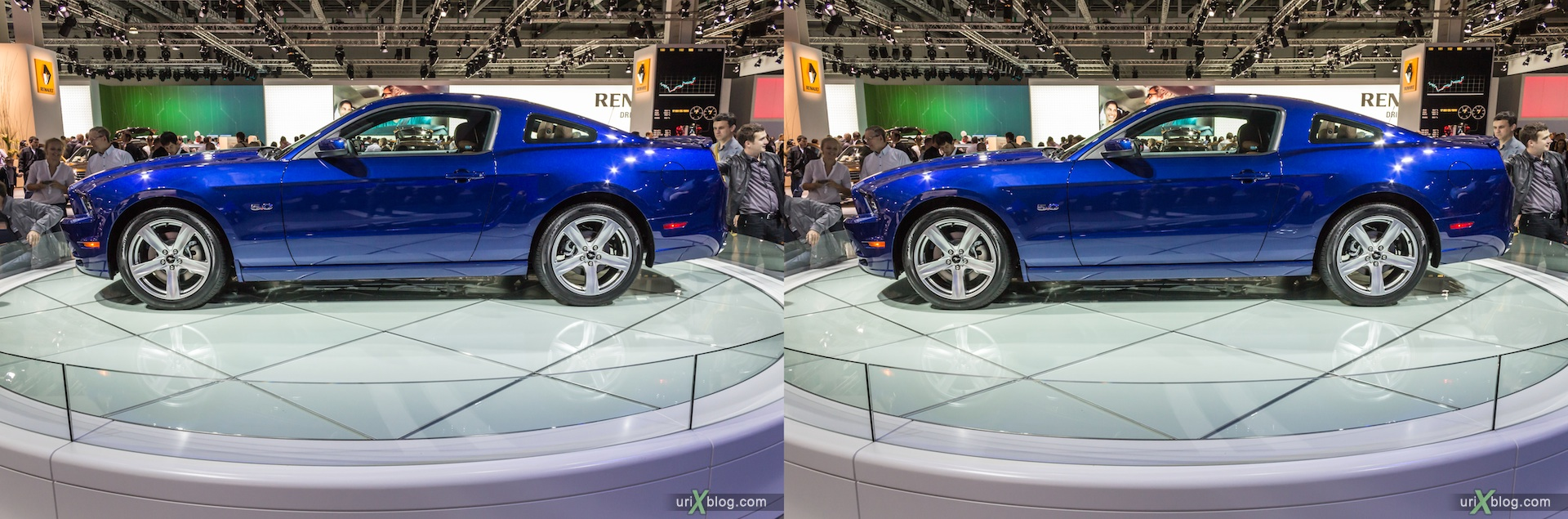 2012, Mustang, Moscow International Automobile Salon, auto show, 3D, stereo pair, cross-eyed, crossview