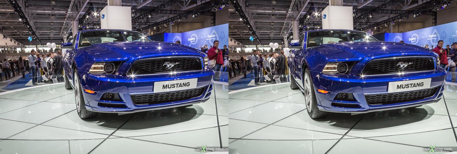 2012, Mustang, Московский международный автомобильный салон, ММАС, Крокус Экспо, 3D, стереопара