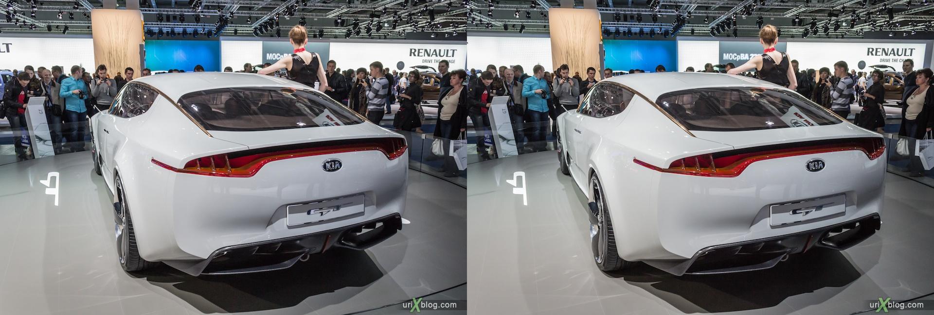 2012, KIA GT, Московский международный автомобильный салон, ММАС, Крокус Экспо, 3D, стереопара