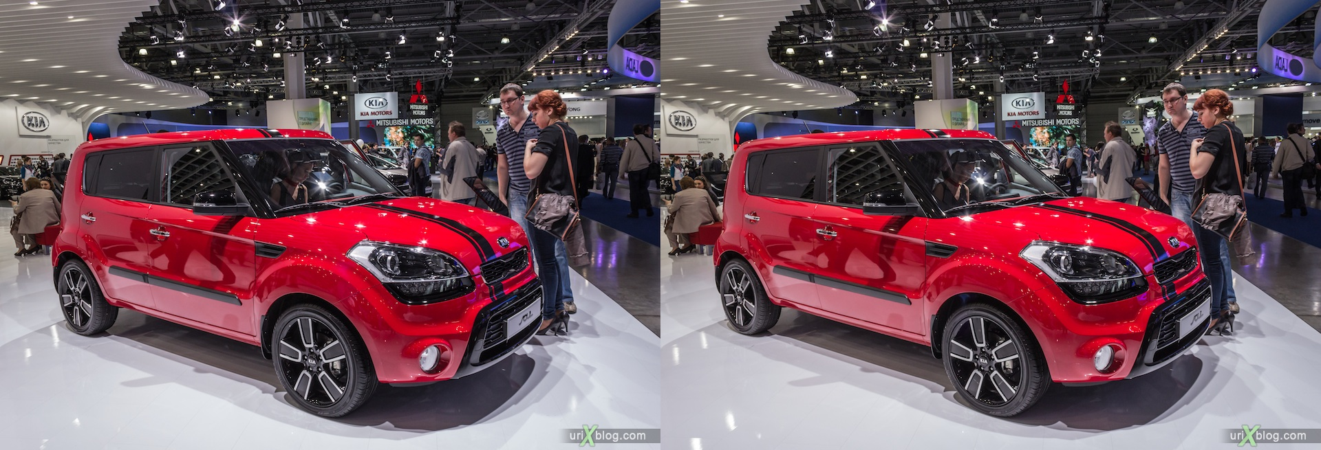 2012, KIA Soul, Moscow International Automobile Salon, auto show, 3D, stereo pair, cross-eyed, crossview