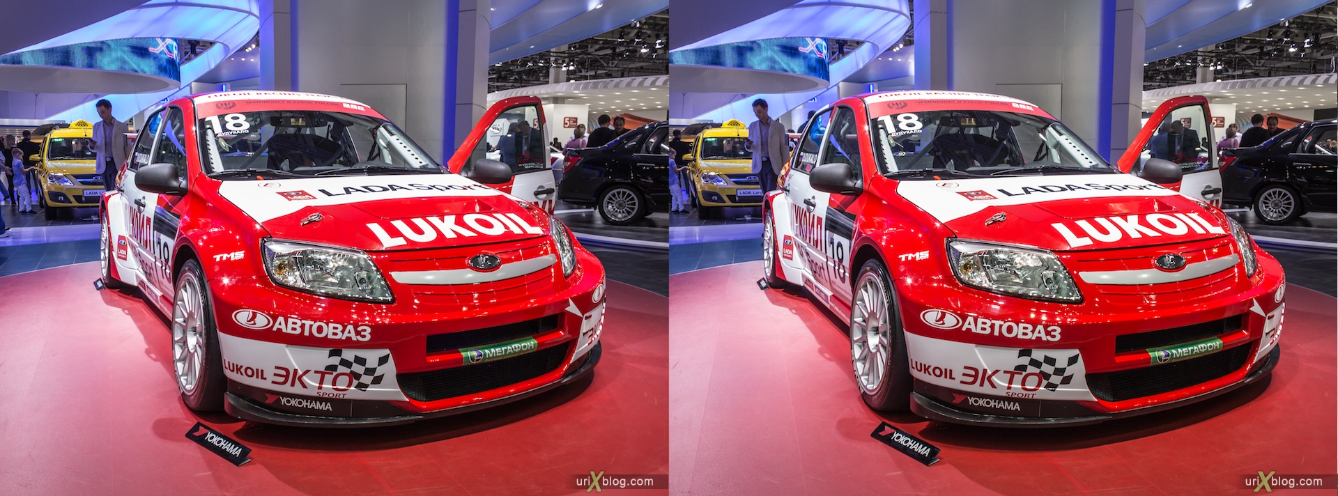 2012, Lada Sport, Moscow International Automobile Salon, auto show, 3D, stereo pair, cross-eyed, crossview