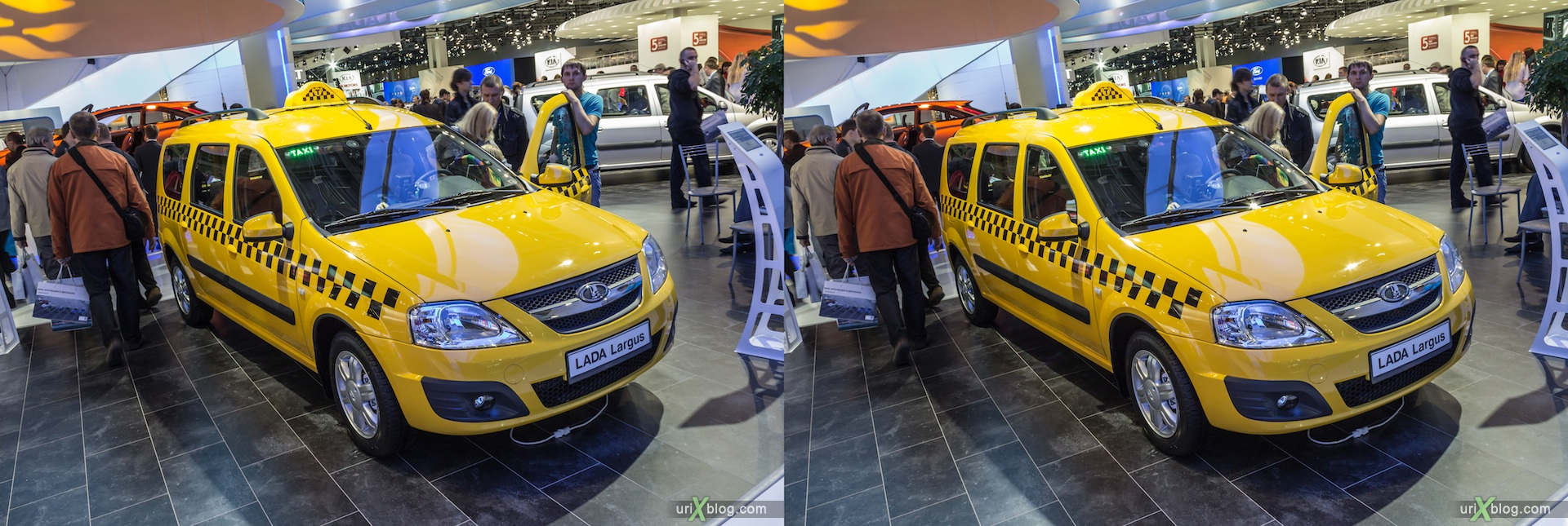 2012, Lada Largus, Moscow International Automobile Salon, auto show, 3D, stereo pair, cross-eyed, crossview