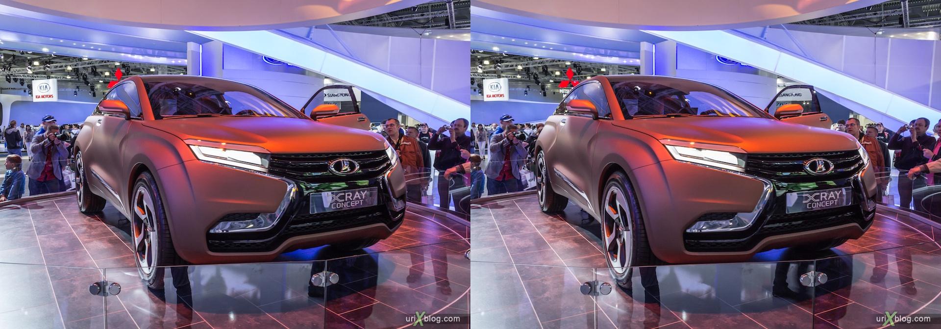 2012, Lada X-Ray Concept, Московский международный автомобильный салон, ММАС, Крокус Экспо, 3D, стереопара