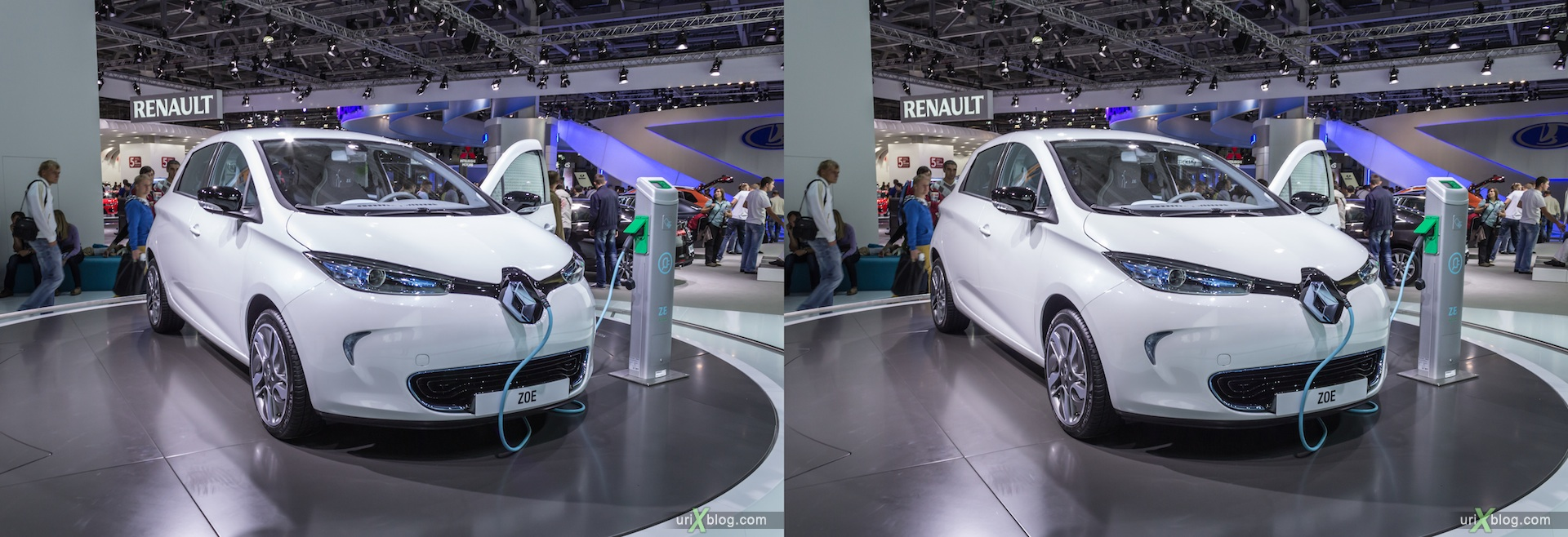 2012, Renault ZOE, Moscow International Automobile Salon, auto show, 3D, stereo pair, cross-eyed, crossview