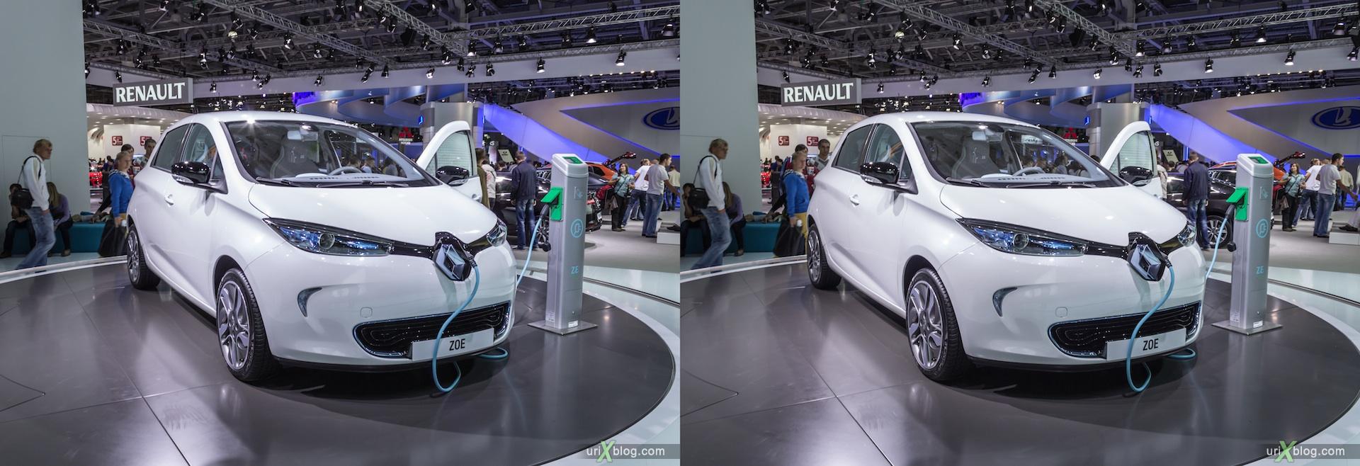 2012, Renault ZOE, Московский международный автомобильный салон, ММАС, Крокус Экспо, 3D, стереопара