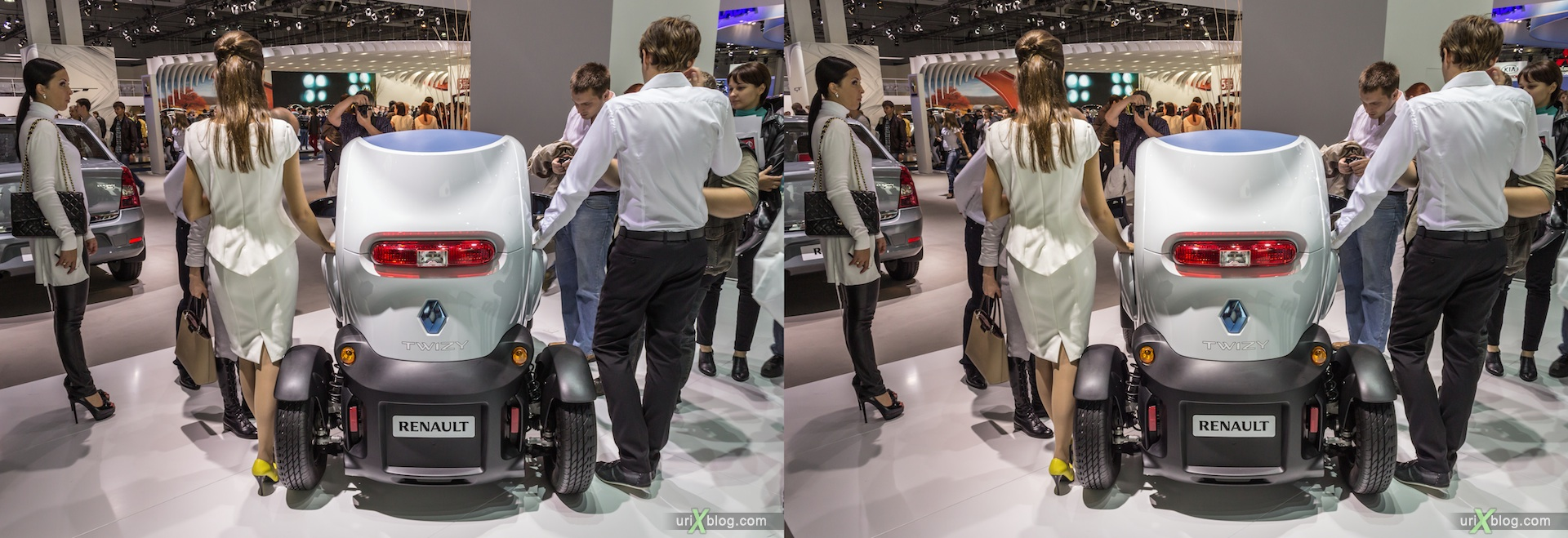 2012, Renault TWIZY ZE, Moscow International Automobile Salon, auto show, 3D, stereo pair, cross-eyed, crossview
