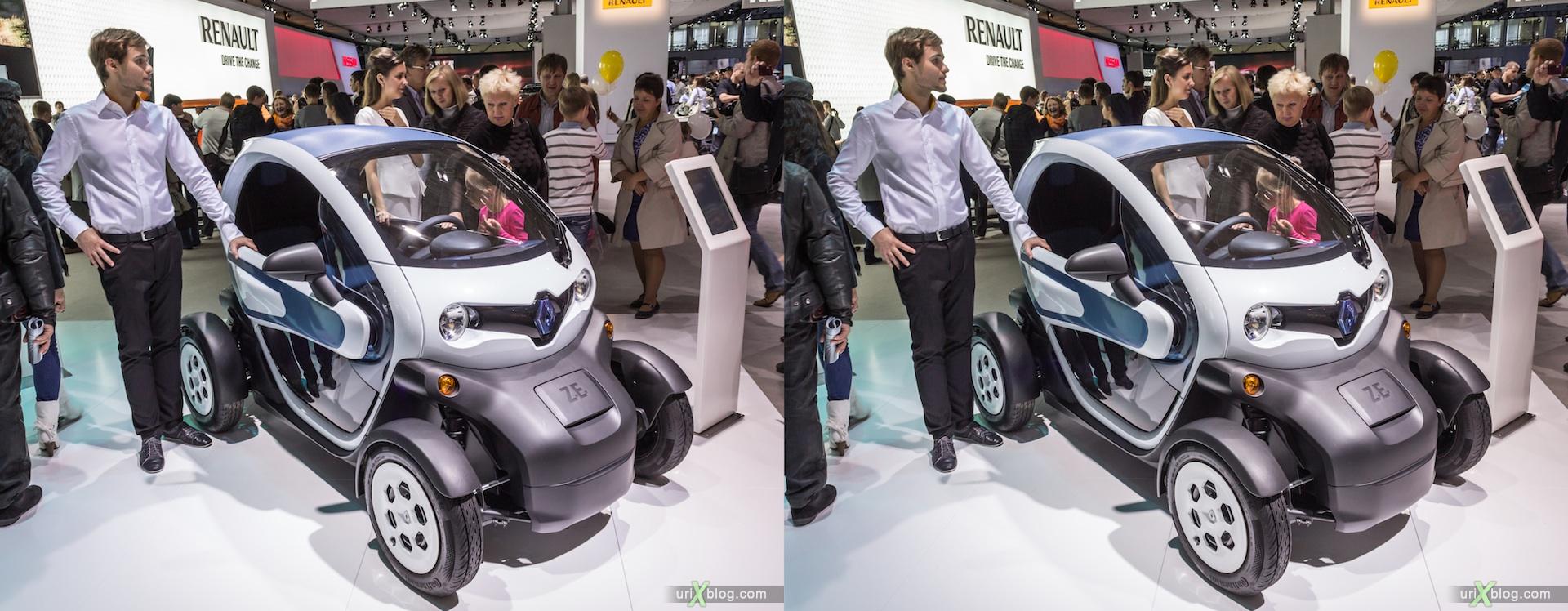 2012, Renault TWIZY ZE, Московский международный автомобильный салон, ММАС, Крокус Экспо, 3D, стереопара